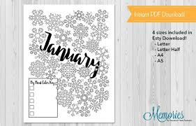 January February March Monthly Tracker Printables Products