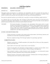 Leasing Consultant Resume