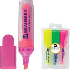 <b>Brauberg</b> Набор <b>маркеров</b> Fluo 3 цвета