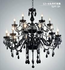 chandeliers black glass chandelier crystal light modern chandeliers restaurant candle crysta