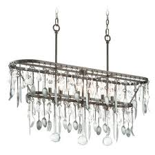 troy lighting bistro graphite with antique pewter flatware island light