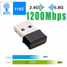 Wireless USB WiFi Dongle 1200Mbps for PC Desktop Laptop 5GHz/867Mbps+2.4G/300Mbps  Wireless Network Adapter USB 3.0 Dongle|Network Cards