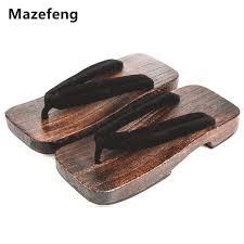 new summer fashion male platform shoes print wood men geta sandals men china geta clogs classial wooden slippers mens flip flops malaysia