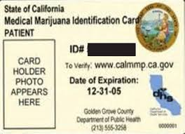 Scientific Identification Medical Diagram Card California mmic Marijuana Download