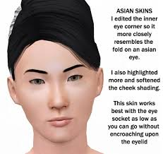 Asian pics of different skin color