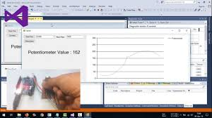 Visual Basic Net Real Time Chart Graph Potentiometer Value From Serial Communication Arduino