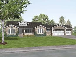 sprawling craftsman style ranch house