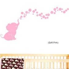 pink elephant wall decals elephant blowing bubbles baby wall decal vinyl wall nursery room decor pink