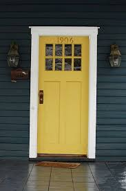 white front door blue house. Navy Blue House, Thick White Trim, Yellow Front Door. Door House