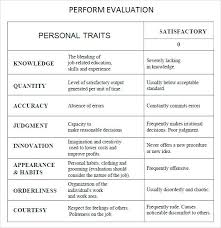 Job Evaluation Template Evaluation Template Word Employee Performance Review Form For ...