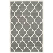 cht733d ham area rug dark grey ivory