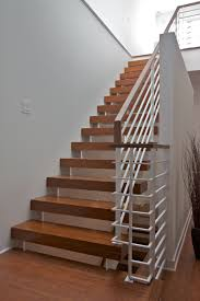 Folding Staircase Modern Railings Custom Stairs Chicago Modern Staircase Design