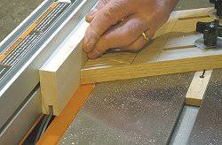 how to make shaker cabinet doors. Building Cabinet Doors - Making The First Pass Over Blade To Cut Groove. How Make Shaker