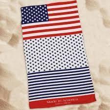 personalized patriotic beach towel