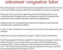 Retirement Letter Retirement Letter Of Resignation Swisseurasier Com