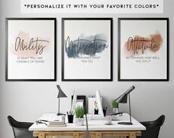 When you spend most of your waking hours in this room, you want it to be when your office is mostly gray or brown, it will be extremely beneficial to your walls to add some sparkle. Office Wall Decor Etsy