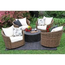 wrought iron wicker outdoor furniture white. Captivating Wicker Conversation Set 39 Dark Brown Outdoor Furniture Wrought Iron Patio Sets Modern White T