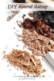 making your own diy mineral makeup like powder foundation is affordable healthy