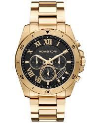 michael kors michael kors macy s michael kors men s chronograph brecken gold tone stainless steel bracelet watch 44mm mk8481