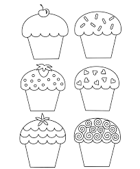 Download Sweet Cupcake Coloring Page Or