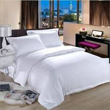 cotton hotel pure white bedding set luxury tribute silk duvet cover king queen bed sheet pillowcases luxury silver grey beige silk bedding set