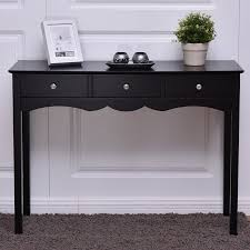 Black sofa table with drawers Hall Costway Console Table Hall Table Side Table Desk Accent Table Drawers Entryway Black Walmartcom Walmart Costway Console Table Hall Table Side Table Desk Accent Table