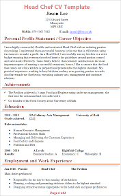 Corporate Executive Chef Sample Resume New Head Chef CV Template Tips And Download CV Plaza
