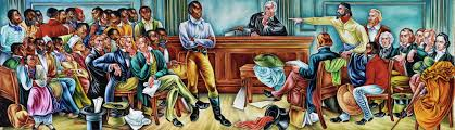 in this 1939 mural woodruff depicts the trial of the africans aboard the amistad