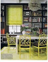 jonathan adler open dining room design with modern espresso dining table green faux bamboo chippendale chairs jonathan adler jere rain drops mirror
