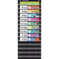 Scholastic Daily Schedule Pocket Chart Amazon Com Scholastic Sc 583865 Daily Schedule Pocket Chart