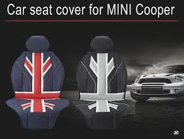 car seat covers full pu leather luxury union jack uk flag for bmw