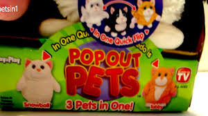 as seen on tv 3 pets in 1 pop out pets unboxing and review