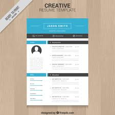 free resume template design free download creative resume templates template design vectors 05