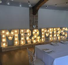 Mr And Mrs Light Up Sign Hire Light Up Love Letter Hire Sheffield Barnsley Wakefield