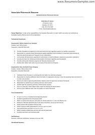 Pharmacist Resume Example Examples Of Resumes