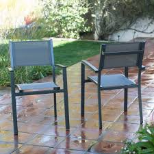 c coast whitney sling stacking outdoor patio dining chair com