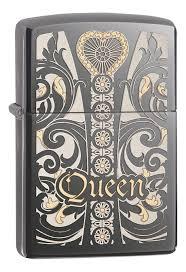 <b>Зажигалка</b> бензиновая <b>Classic Queen</b> (серебристая, глянцевая ...