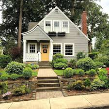 red door grey house. Gray House Brown Roof Inspiration Of Yellow Dark Red Door With Best Houses Ideas . Grey