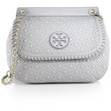 Tory Burch Marion Quilted Saddle Shoulder Bag - Polyvore & Tory Burch Marion Quilted Saddle Shoulder Bag Adamdwight.com