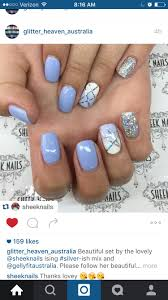 Blue And Silver Toe Nail Designs Periwinkle Nails Periwinkle Nails Prom Nails Nails