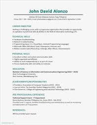 Work History Resume Inspirational Job Application Resume Template