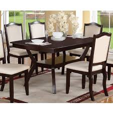 get ations modern rectangular wood 7 pc dining table and chairs set