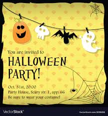 Halloween Invitations Cards Halloween Party Invitation Card With Ghostbat