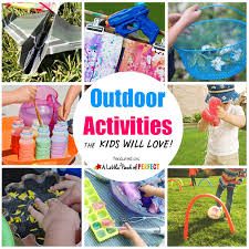 outdoor activities collage. Fine Outdoor Linky 44_Outside Activities For Kids Square Copyb And Outdoor Collage O