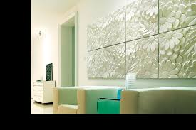 wall art ideas design green decorations 3d panels multi square minimalist stained painted contemporary best wall