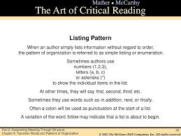 Pattern Of Organization List