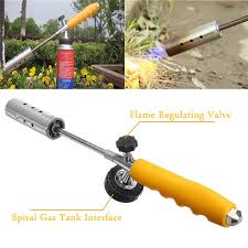 handle ne gas torch weed gr shrub garden kill burner kit with 2 x extension pole stainless steel spra in welding torches from tools on