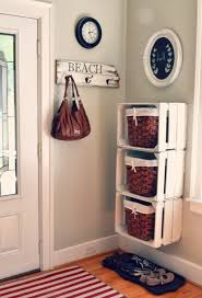 DIY Small Mudroom In The Wall