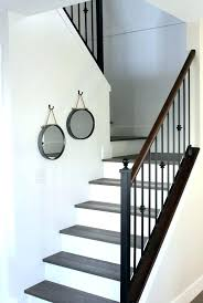 best paint for stair treads staircase makeover white oak hardwood with painted risers satori and fo stair treads painted