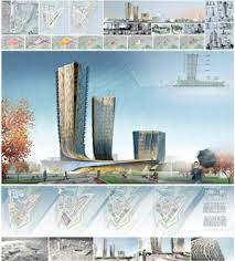 Курсовой проект Архитектура и проектирование Архитектурные  Проект многофункционального жилого комплекса в Баку